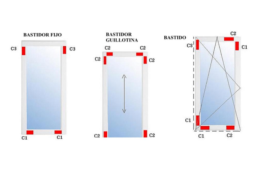 Calzador para ventanas