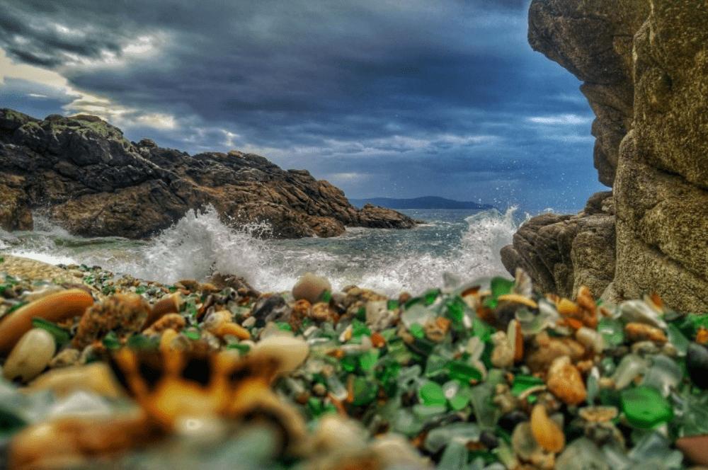 playa de los cristales Asturias